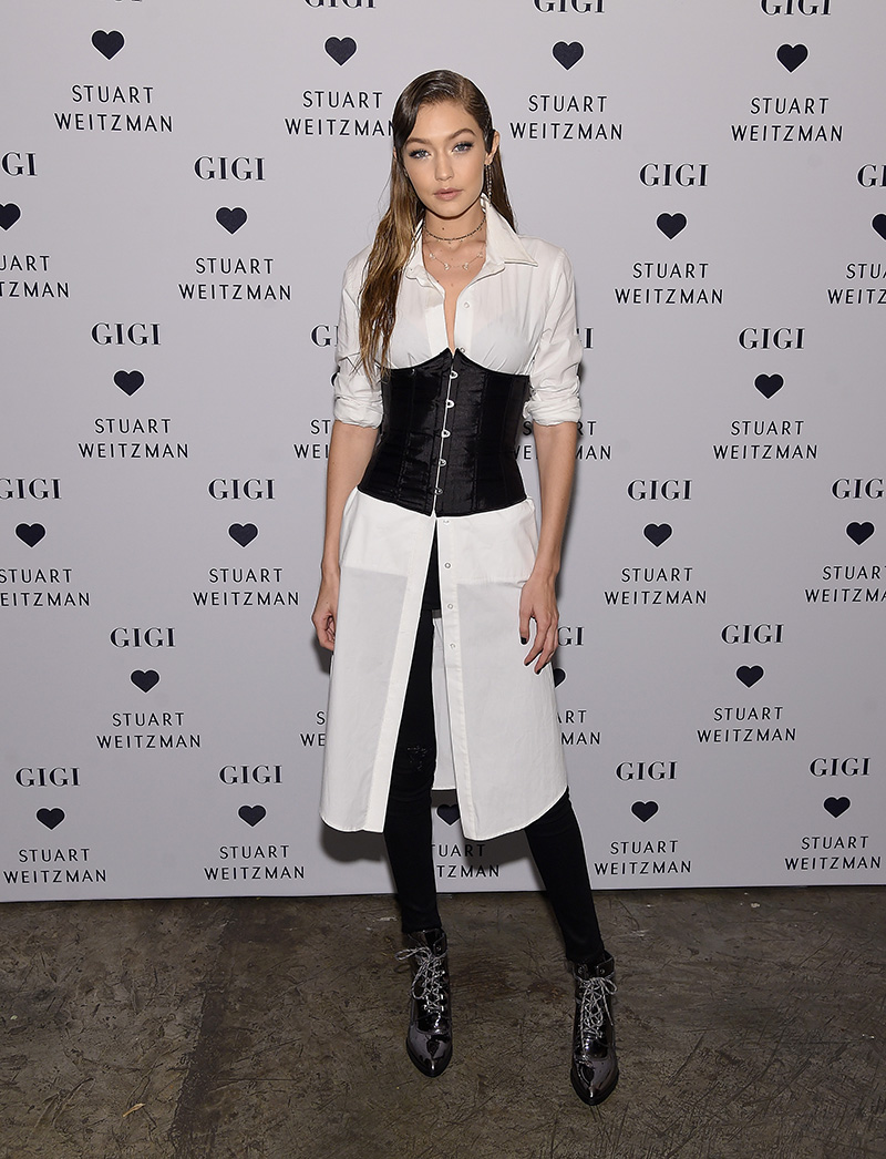 NEW YORK, NY - OCTOBER 26: Gigi Hadid attends Stuart Weitzman's Launch of the Gigi Boot on October 26, 2016 in New York City. (Photo by Jamie McCarthy/Getty Images for Stuart Weitzman)